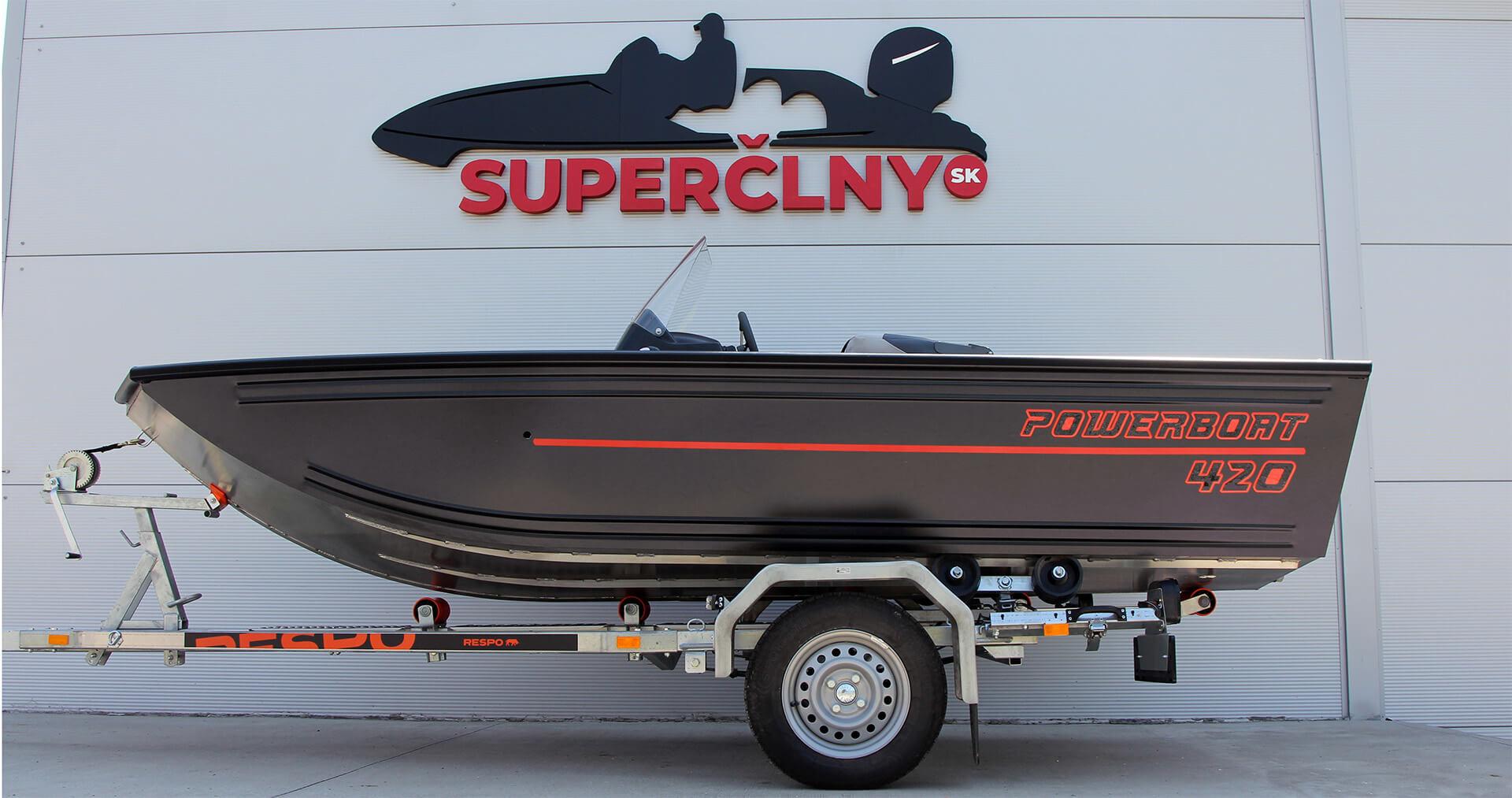 Referencia Powerboat 420 + Mercury 40 ELPT EFI, Trnava