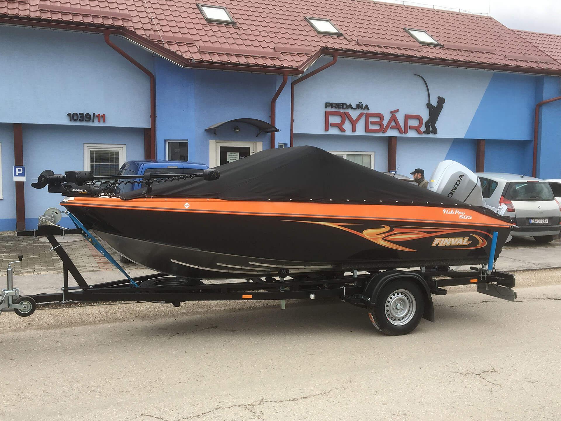 Referencia Finval FishPro 505 CB + Honda BF100, Dunakiliti